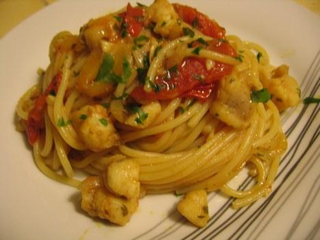 Spaghetti alla coda di rospo