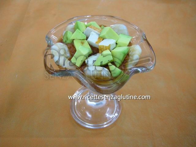 ricetta avocado con camarones senza glutine