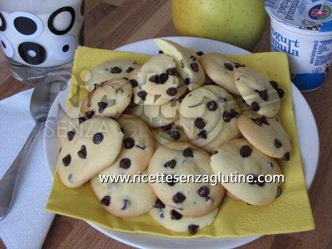 Ricetta Biscotti alle gocce di cioccolata senza glutine