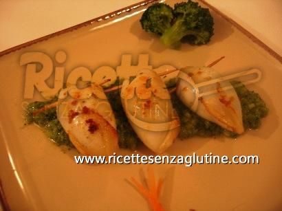Ricetta Calamari ripieni con purea di broccoli senza glutine