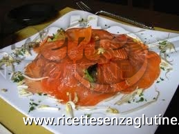 Ricetta Carpaccio di salmone senza glutine