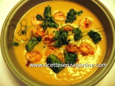 Ricetta Crema di ceci con gamberi e broccoli senza glutine