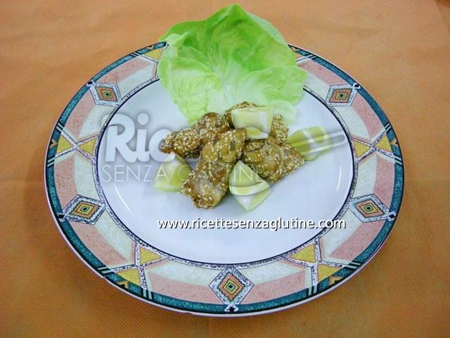 Ricetta Crocchette di Pollo al Sesamo senza glutine