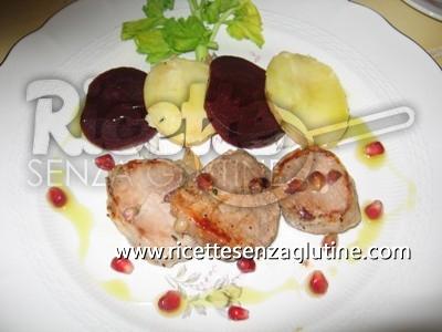 Ricetta Filetto al Melograno e Lardo di Colonnata senza glutine