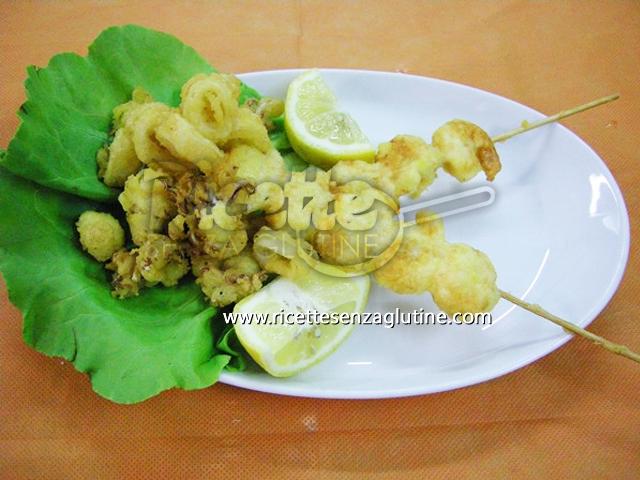Ricetta Fritto Misto in tempura ambrata senza glutine