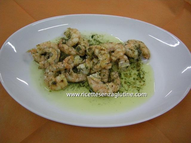 Ricetta Gamberetti alle erbe aromatiche senza glutine