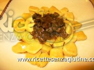 Ricetta Gnocchi d\'Autunno alla zucca e funghi porcini secchi senza glutine