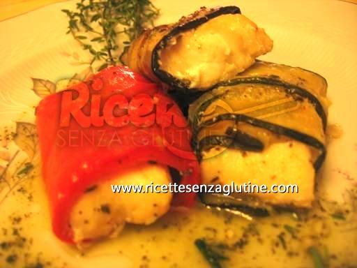 Ricetta Involtini tricolore al rombo senza glutine