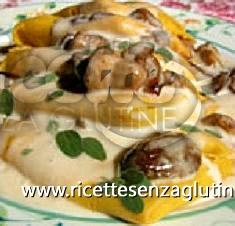 Ricetta Lasagnette di grano saraceno e funghi porcini senza glutine