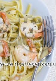 Ricetta Linguine di riso ai gamberi e verdure senza glutine
