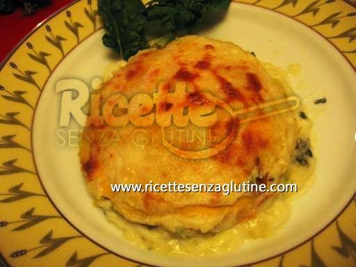 Ricetta Millefoglie allo squaquerone con spinaci e patate senza glutine