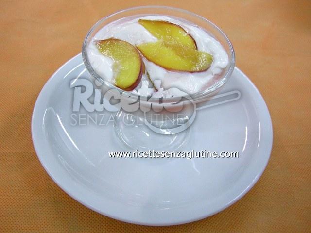 Ricetta Mousse alle pesche senza glutine