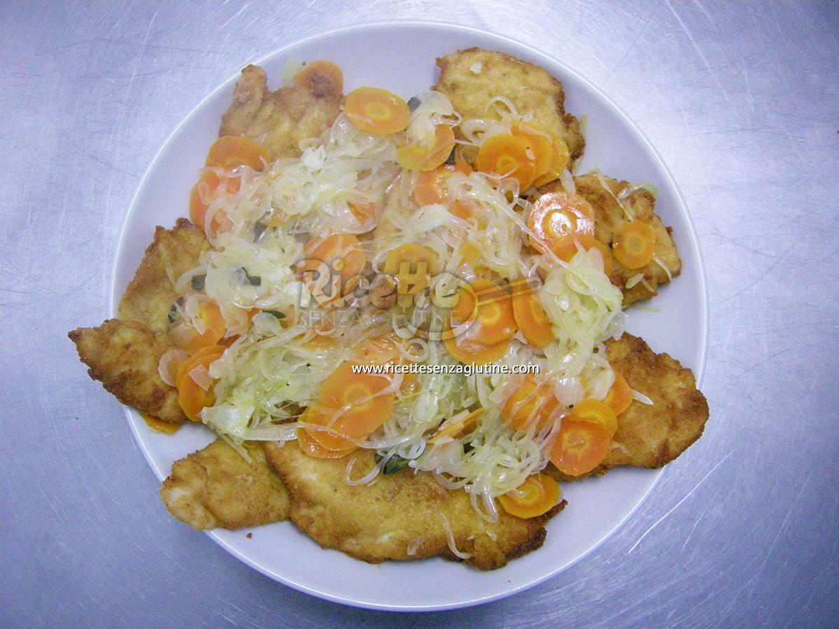 Ricetta Petto di pollo in carpione senza glutine