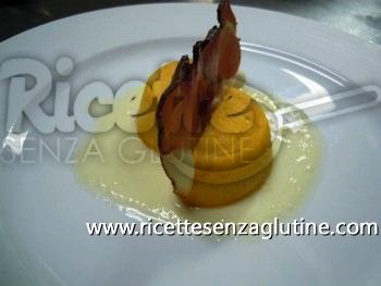 Ricetta Sformatino di zucca con foglia di speck e crema di formaggio di fossa senza glutine