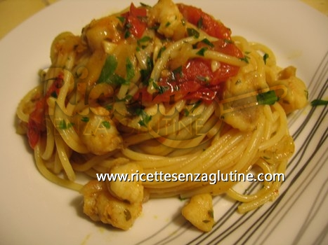 Ricetta Spaghetti alla coda di rospo senza glutine