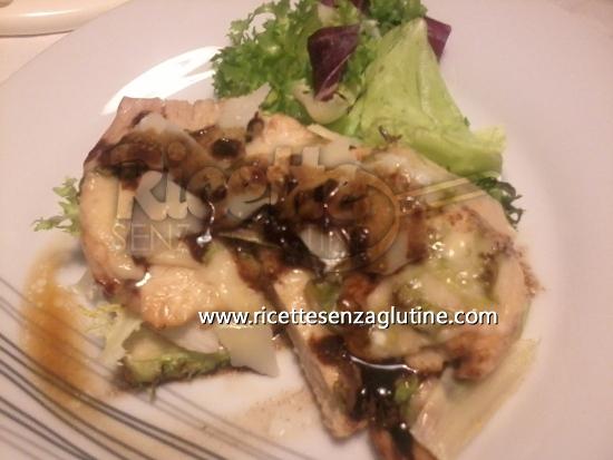 Ricetta Tacchino farcito d\'insalatina con scaglie di Parmigiano e aceto balsamico senza glutine